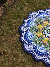 Blue floral mandala throw