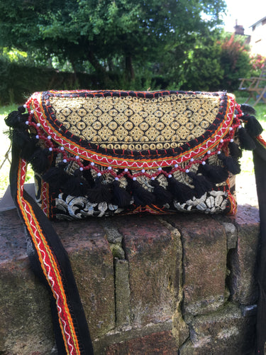 Black banjara shoulder bag
