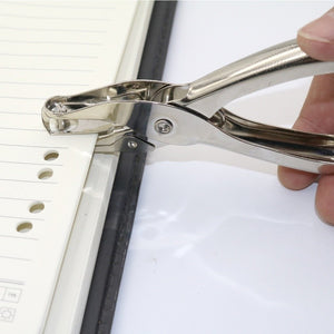 Office Silver Metal Puncher Hand Paper