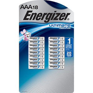 Energizer Ultimate Lithium AAA - 18pk - Dependable Expendables