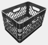 24Q Plastic Grip Milk Crate - Dependable Expendables