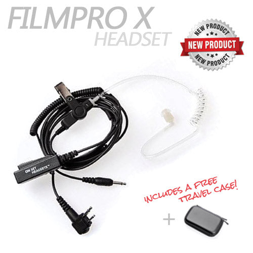 FilmPro X Walkie Headset w/3.5mm Input and Case - Dependable Expendables