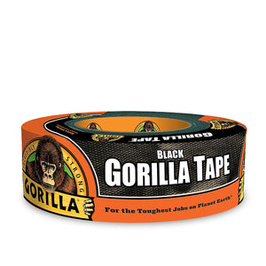 "Gorilla Black Duct Tape, 1.88"" x 35 yd, Black - Dependable Expendables"