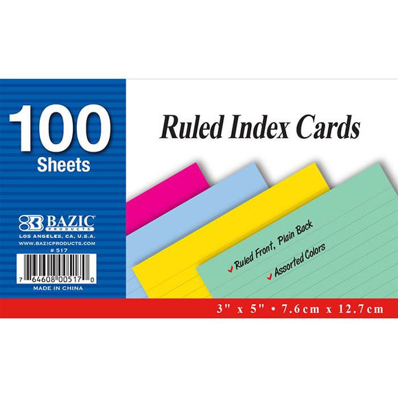 Ruled Index Cards - Dependable Expendables