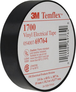 3M Temflex 1700 Electrical Tape - Dependable Expendables