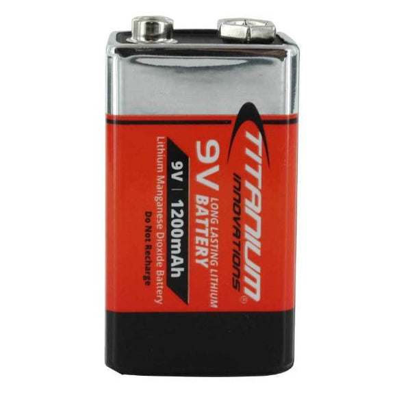Titanium 9V Lithium Battery - Dependable Expendables