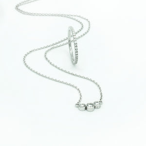 Solitairecollier Weissgold