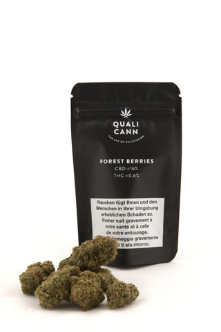 Forest Berries Indoor mit bis zu 16% CBD - Qualicann - CBD Tabakersatz - cannabis-trade-center