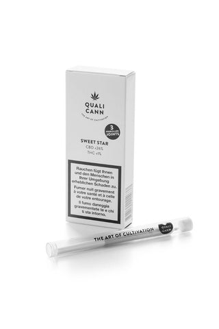 Qualicann-Prerolled Joints Sweet Star (3 Stück)-Joints-CBD Discounter