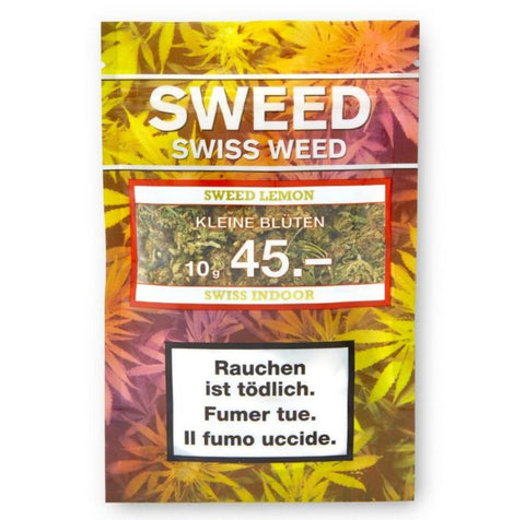 Sweed-Sweed Lemon Indoor kleine Blüten 10g-CBD Tabakersatz