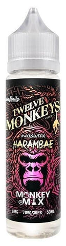 Twelve Monkeys Liquid 50ml Harambae 0mg