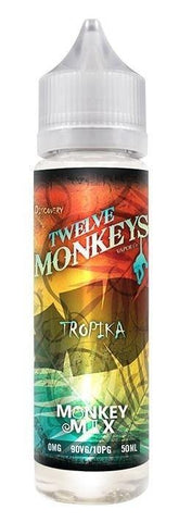 Twelve Monkeys Liquid 50ml Tropika 0mg - CBD Discounter