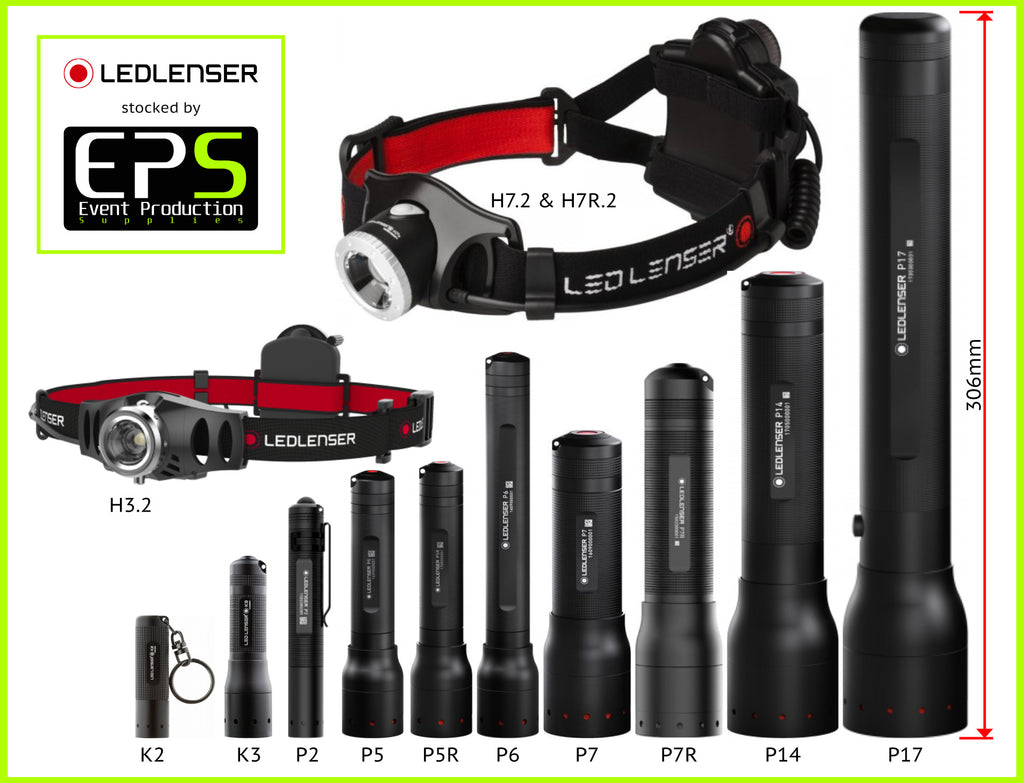 Led Lenser stocked by Event Production Supplies