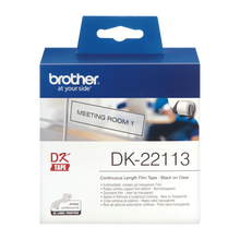 Brother DK-22113 Label | Black on Clear Film