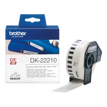 Brother DK-22210 Label | Black on White Paper | 29mm