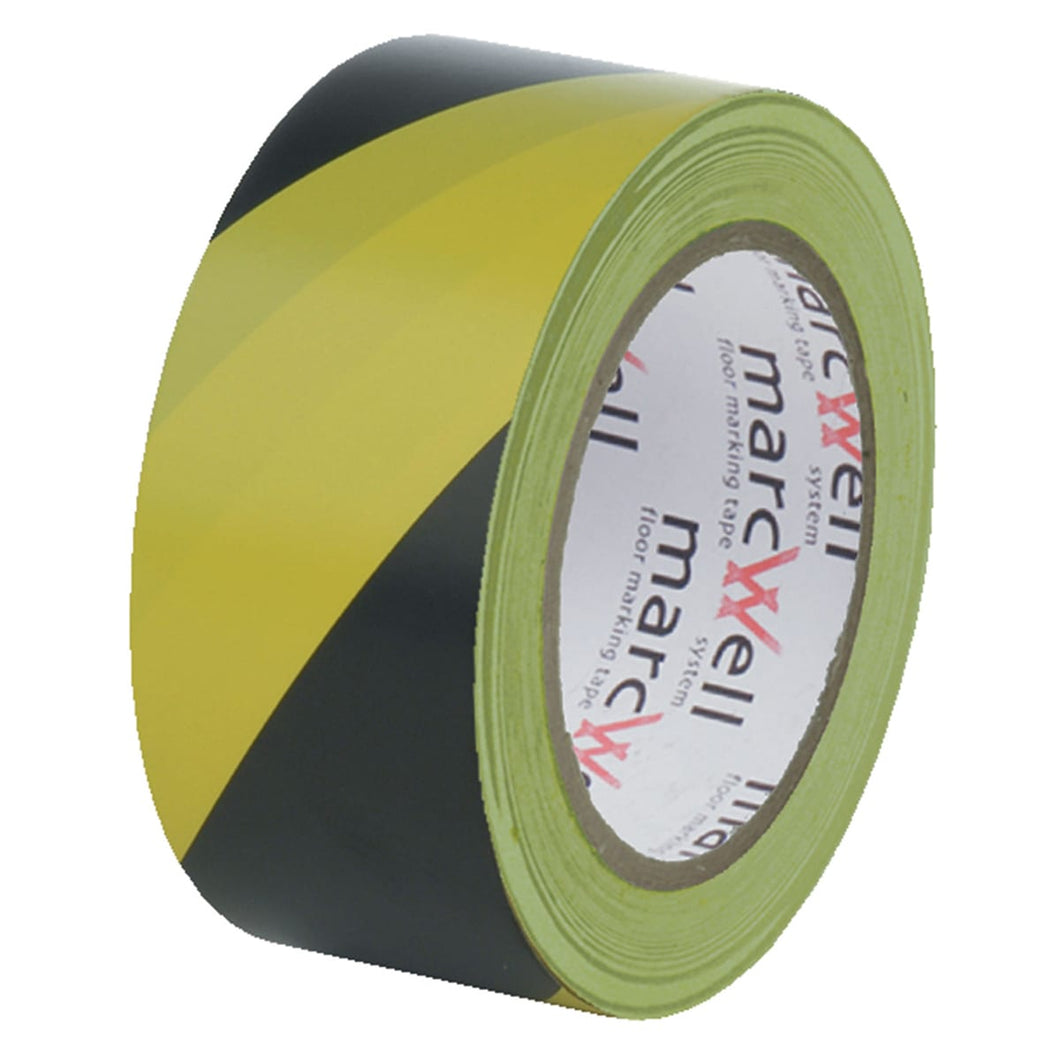 Hazard Tape with Adhesive | Black and Yellow Floor Tape