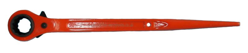 Ratchet Podger Wrench Spanner | 19-21mm Steel | Long | Priory 603 Orange