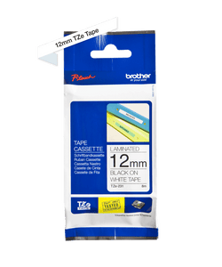 Brother TZe231 Labelling Tape | Black on White | 12mm