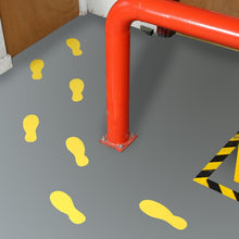 Adhesive Shoe Floor Graphic | Queue Marker