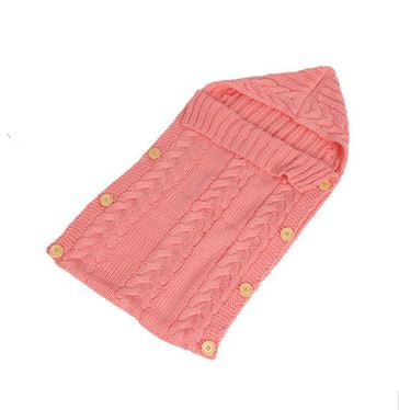 70 35cm Baby Swaddle Wrap Warm Crochet Knitted Newborn Infant