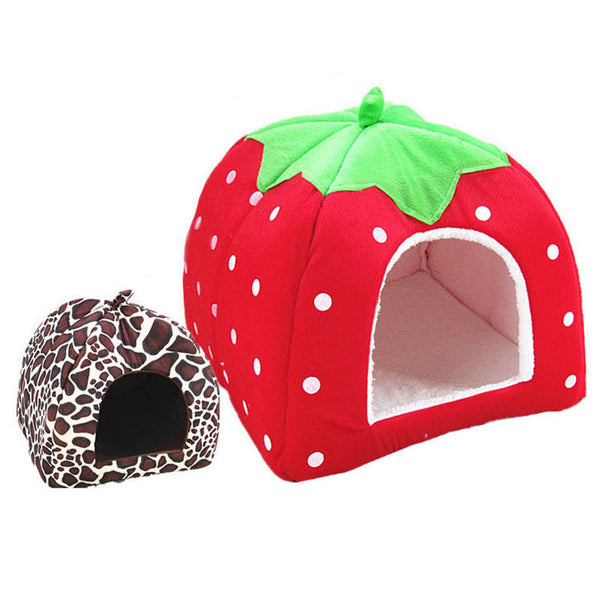 Cute Strawberry Dog Bed House - Thedogsbest