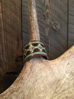 TURQUOISE ACCENT LEATHER CUFF