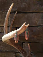 BRAVECREEK'S COPPER LEAF EARRINGS