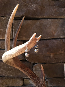 NAVAJO PEWTER PEARL EARRINGS