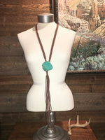THUNDERSTEAD'S TURQUOISE STONE SLAB NECKLACE