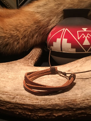 SOFTSPRING'S 3-STRAND LEATHER BRACELET