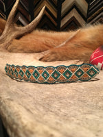 STARKRIVER'S MINT SEEDBEAD HEADBAND