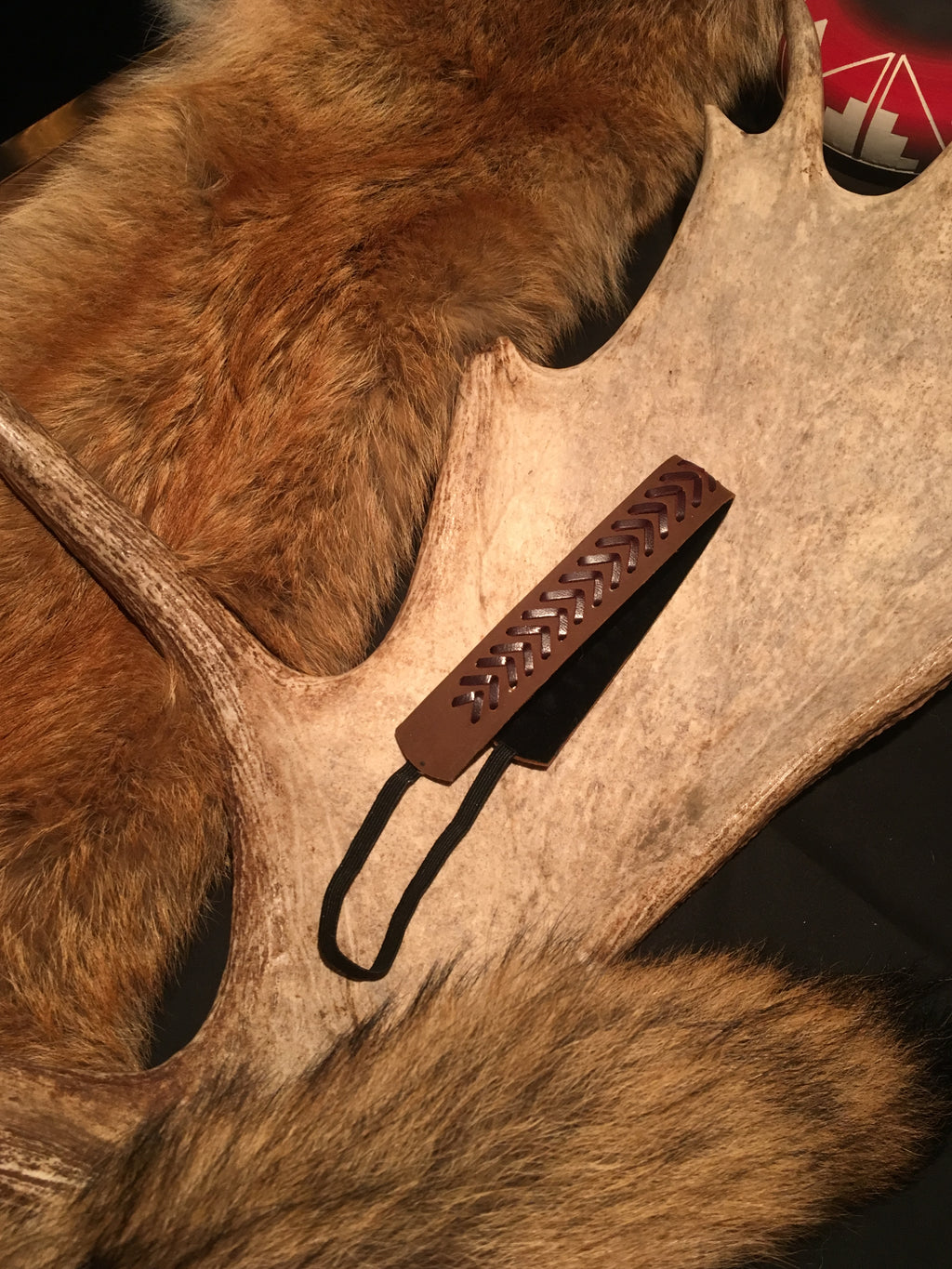 SILVERPEAK'S LEATHER STITCHED HEADBAND