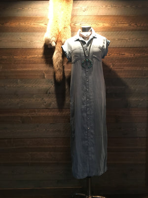 LONGBANK'S DENIM DRESS