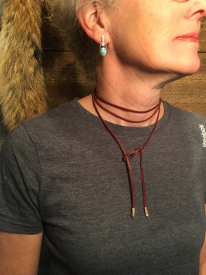 TUCKERRUN LEATHER WRAP NECKLACE
