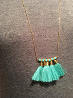 PALEBLUFF TASSEL NECKLACE