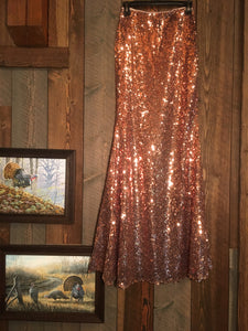 BRONZECREEK SEQUIN MAXI SKIRT