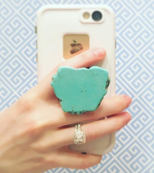 TURQUOISE SLAB PHONE JEWELS