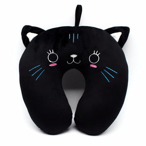 Cute Black Cat Travel Pillow