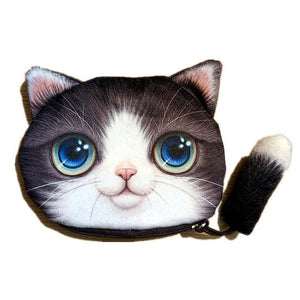 Cute Cat Coin Purse With Tail & Ears