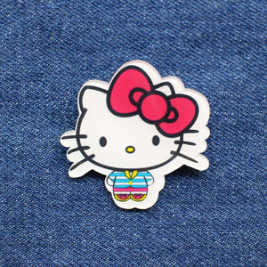White Cat Enamel Pin