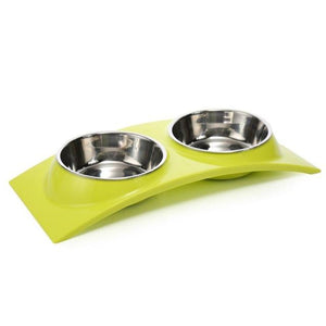 Plastic & Stainless Steel Combo Bowl (Various Designs)