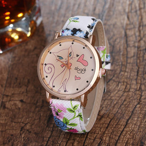 Cartoon Cat Quartz Watch