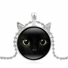Black Cat Art Pendant Necklace