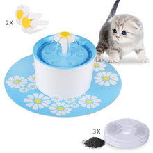 Filtered Cat Flower Drinking Fountain