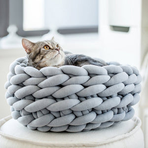 Giant Knit, Hand Woven Cat Bed