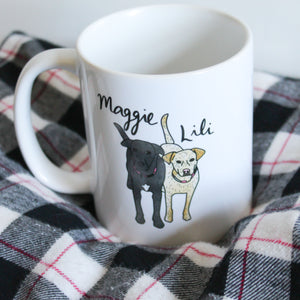 Custom Pet Illustration on Mug