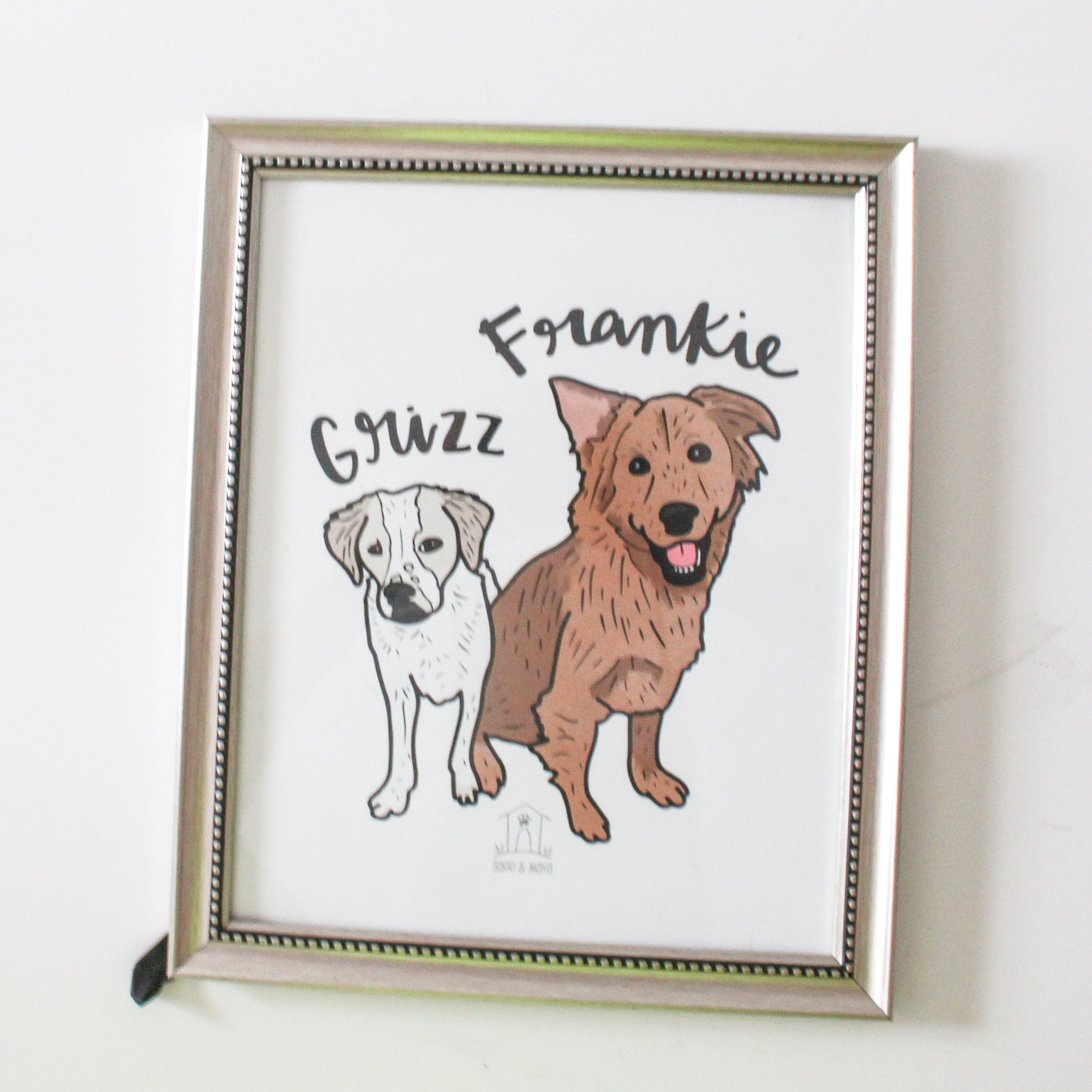 Custom Pet Illustration Print