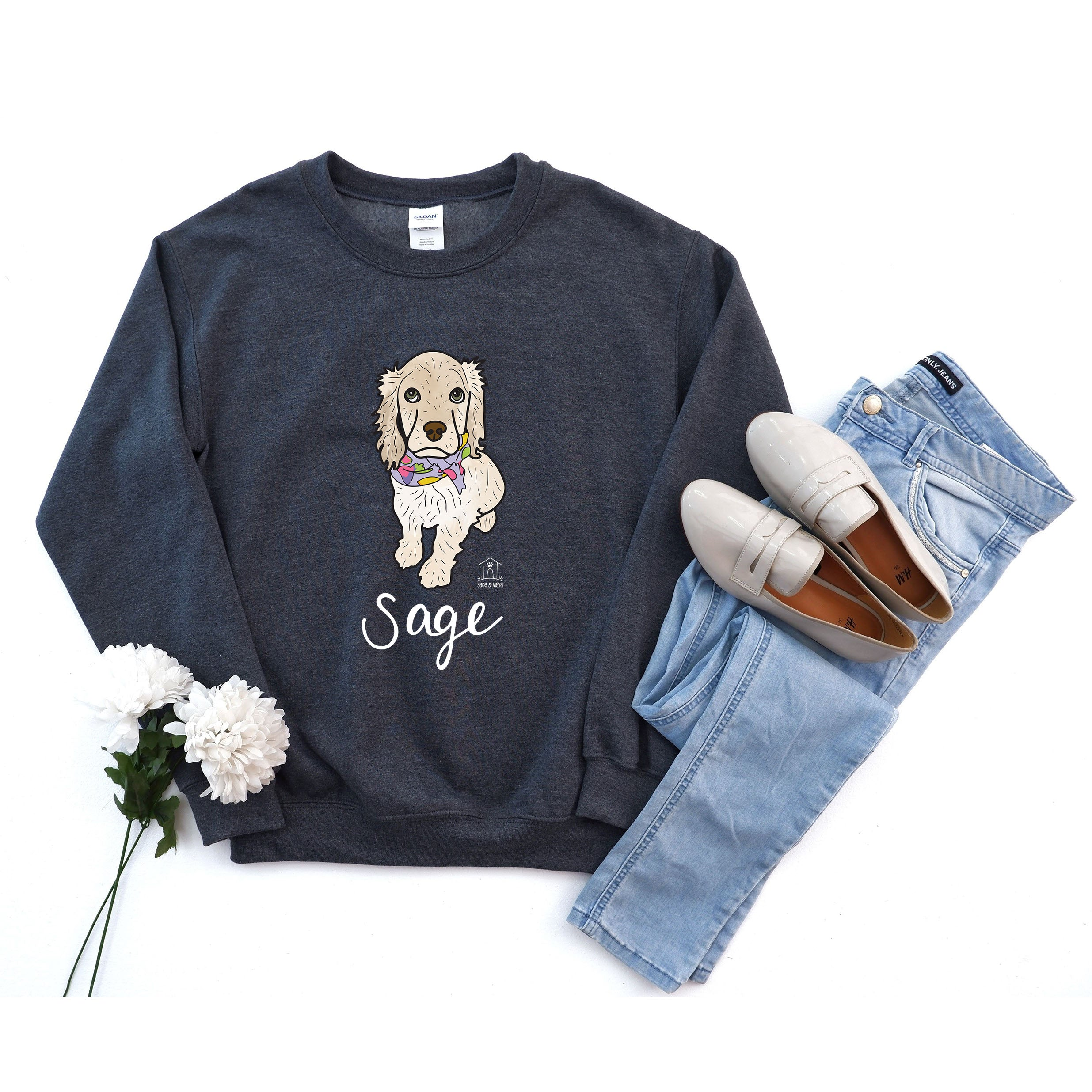 Custom Pet Illustration on Sweatshirt