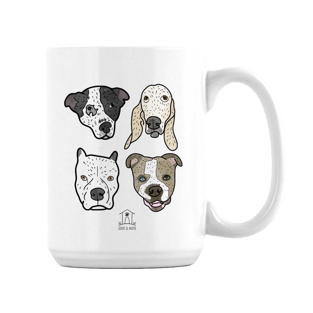 Custom Pet Illustration on Large Mug