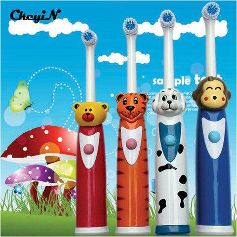 Cute Kids Ultrasonic Electric Toothbrush Baby Cartoon Children - Dentists-world